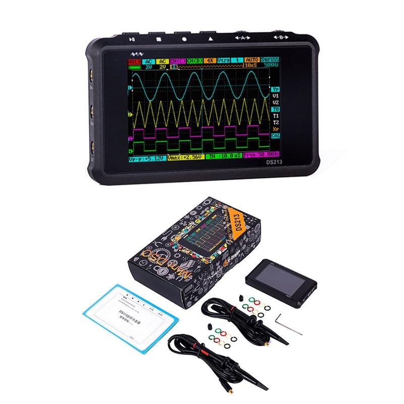 DS213 Мини цифровой осциллограф 4 канала 100 мс/с ЖК-дисплеем USB осциллограф карманный осциллограф