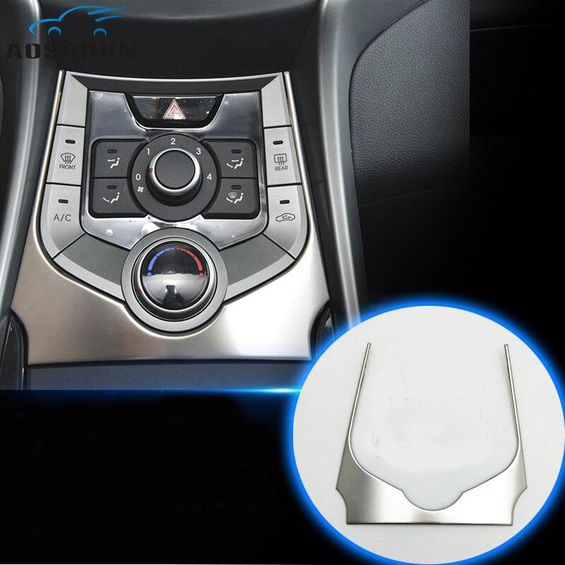 Cubierta embellecedora de control central para automóvil, accesorios de coche para Hyundai Elantra 2012 2013 2014 2015