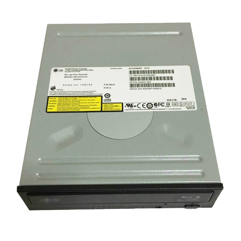 For LG 12X 3D BD-RE DL Blu-ray Writer Dual Layer 16X DVD+-R 24X CD-RW Burner SATA Desktop PC Optical Drive