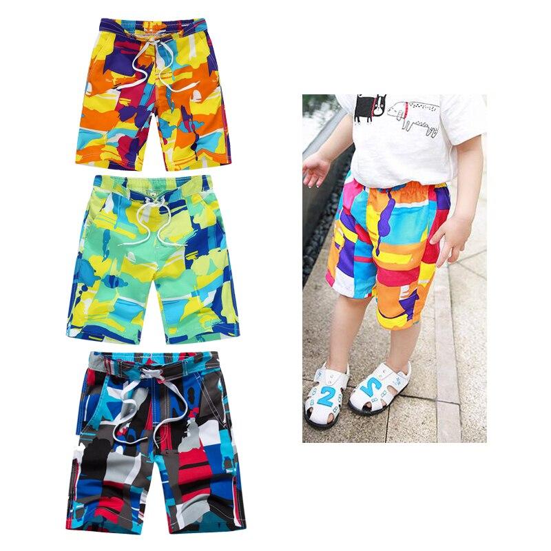 9 Color Patchwork niños bañador para la playa niños verano Surf Shorts rodilla-longitud pantalones cortos 7-8-9-10-11-12 años niños ropa