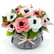 Filz blumen Dekoration Kostenloser Schneiden DIY Material Paket Handgemachte blumen aus filz Für Geschenke und Wohnkultur