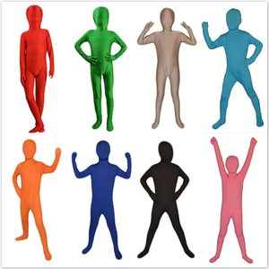 alien kids costumes Halloween Full Body Spandex Lycra Zentai Tights unisex Fancy Halloween Christmas Party Costumes