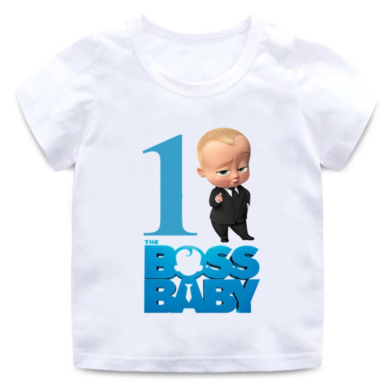 aliexpress.com - 2021 Summer Kids t-shirts Baby Boy Boss T shirt Clothes Short Sleeve Birthday Boy Outfit 1st Party Funny Children Girl Tee Tops