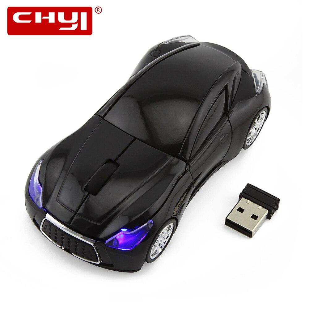 CHYI Горячая продажа Infiniti Q80 Спортивная Автомобильная мышь GT Supercar беспроводная мышь Led оптическая игровая компьютерная мышь для ПК ноутбука н...