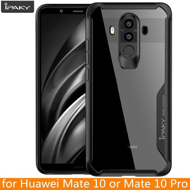 Para Huawei Mate 10 funda IPAKY Mate 20 Pro Lite silicona acrílica híbrida a prueba de golpes funda transparente para Huawei Mate 10 Pro funda