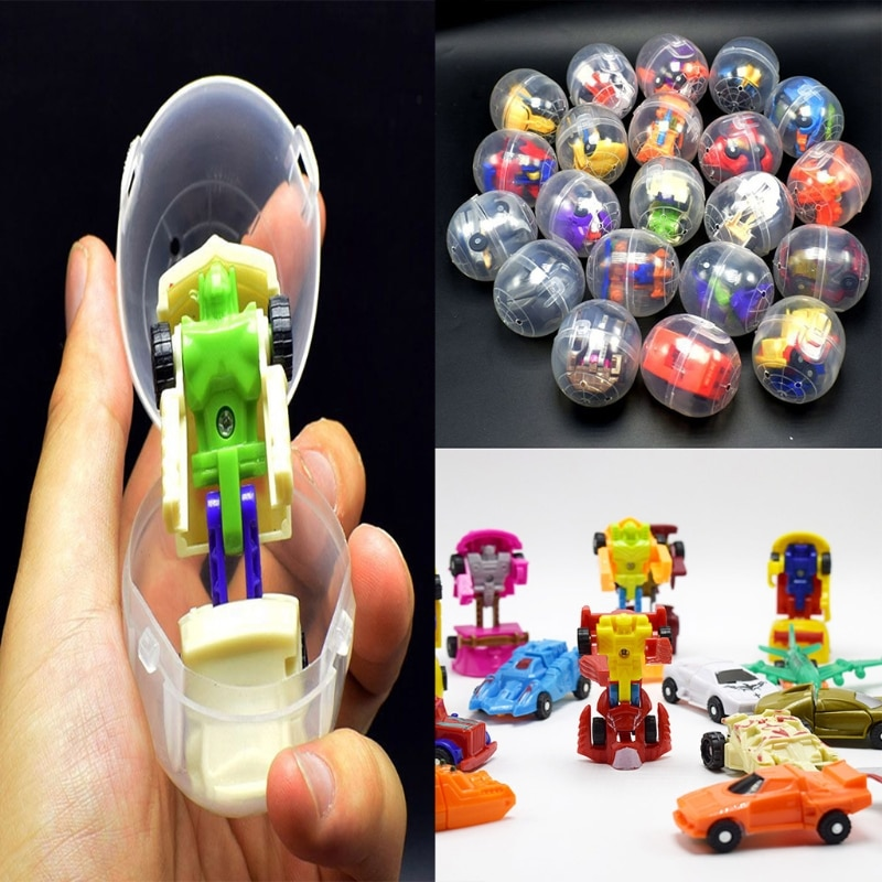 Mini Deformable Robot Surprise Eggs Surprise Ball Surprise Doll Gashapon Gift Safe Eco- friendly ABS