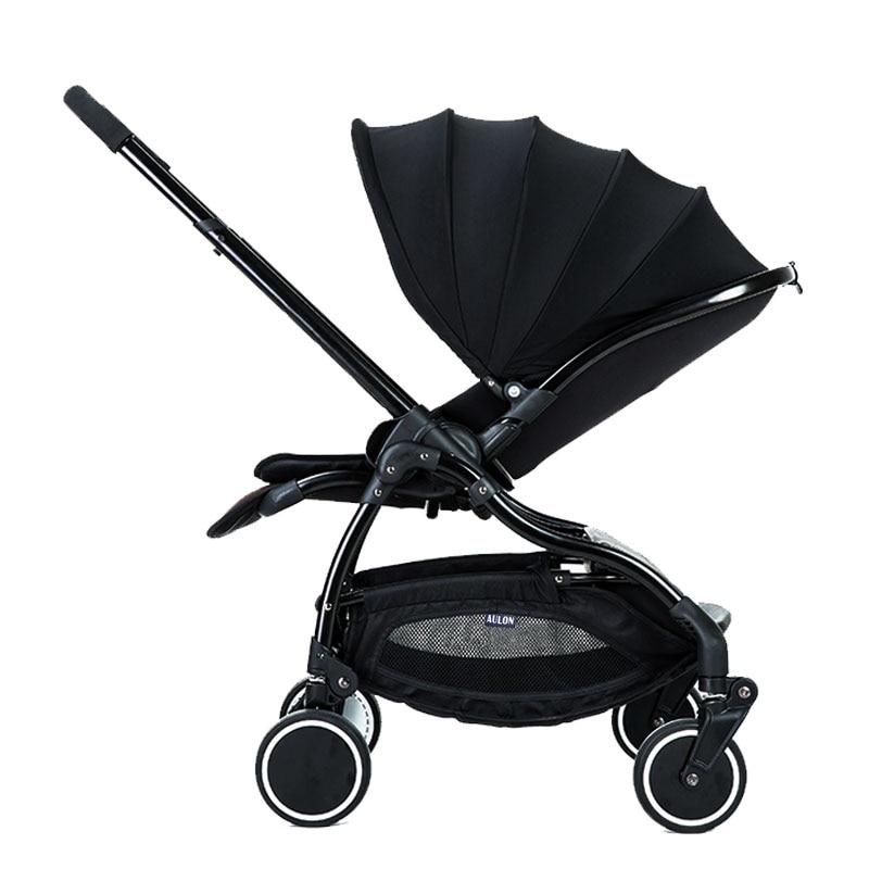 Transporte rápido! aulon carrinho de bebê leve guarda-chuva amortecedor dobrável pode sentar mentira carrinho de bebê em dois sentidos