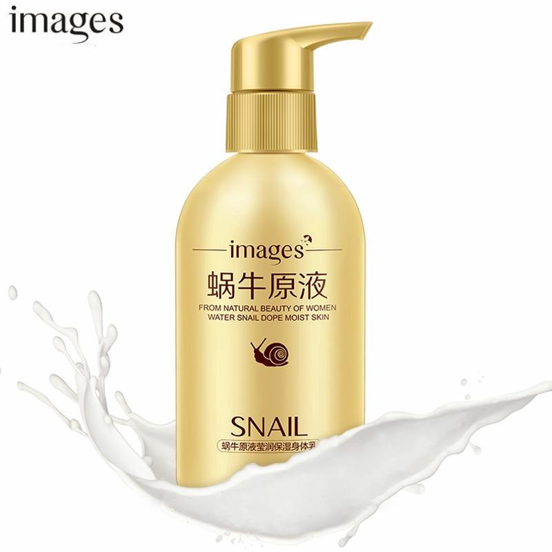IMAGES Skin Whitening Cream for Body Lotion Bottle Whitening Moisturizing Firming Skin Snail Snow White Lotion Remove Cutin 200G