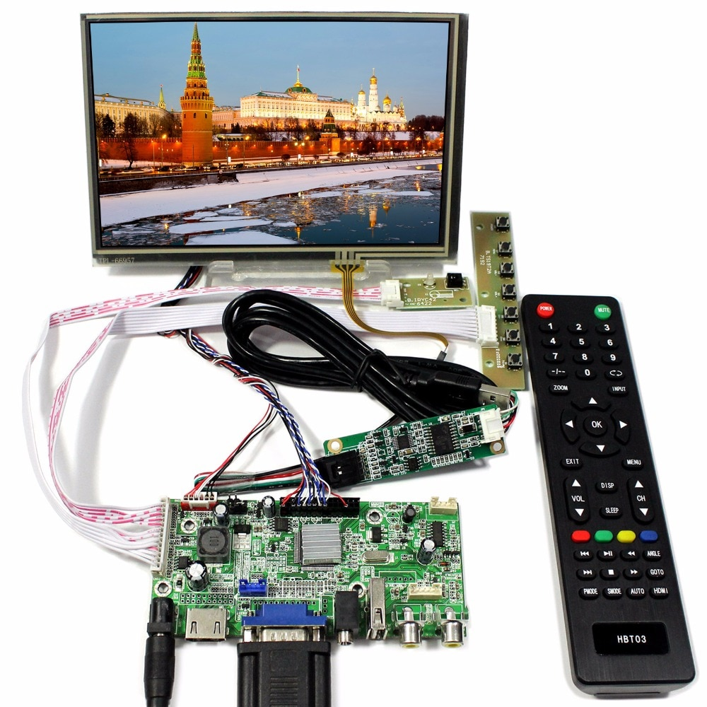 HDMI + VGA + 2AV + USB + Audio Control LCD con 7 pulgadas 1280x800 N070ICG-LD1 Touch LCD