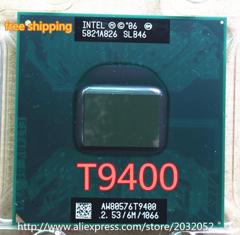 Lntel núcleo 2 duo processador t9400 6 m cache, 2.53 ghz, 1066 mhz fsb soquete 478 para gm45 pm45