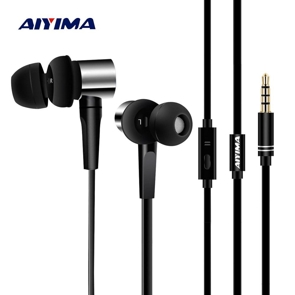 AIYIMA Mini Audio Earphone In Ear Headphones HIFI Stereo Sound Music Gaming Headset Earphones With Microphone For Xiaomi