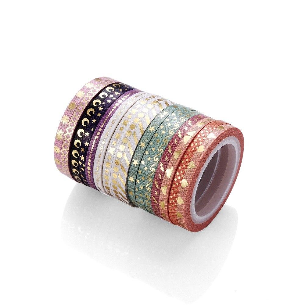 AAGU 1 шт. 3 мм * 5 м декоративная тонкая фольга васи лента Канцтовары точка звезда клейкая лента васи маскирующая лента