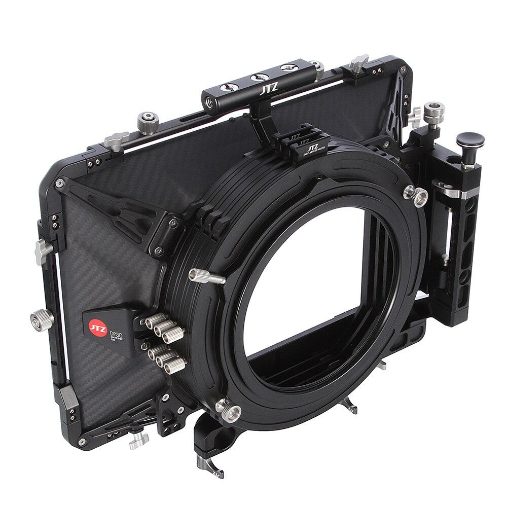 "JTZ DP30 Cine Carbon Faser 5,65x5,65 ""Matte Box 15mm/19mm für Sony CANON ARRI ROT"