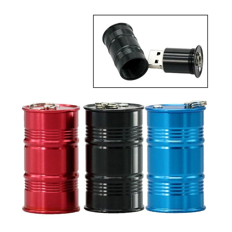 Мини металлическая баррель Usb флэш-накопитель масляная бутылка для бензина модель в форме барабана ручка-накопитель карта памяти Флешка 4G 8G...