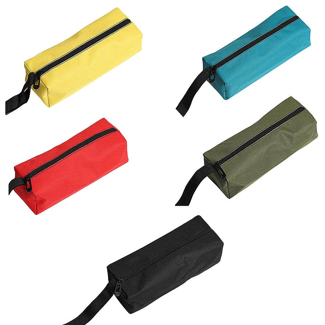 Tela oxford impermeable pesca viaje bolsa para herramientas de mano almacenamiento Metal tornillos taladro de uñas Bit bolsa organizadora maquillaje bolsa estuche