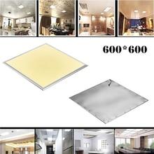 Plafonnier de plafond en aluminium, 2 pièces, 600X600 36 W, blanc chaud, froid, panneau LED carré de plaque frontale
