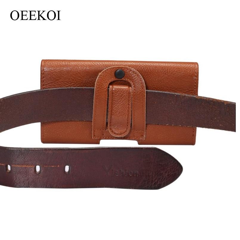 Oekoi cinturón Clip PU cuero cintura titular Flip funda bolsa para Gigabyte GSmart GS202/M1420/G1362/G1355 4,3 pulgadas