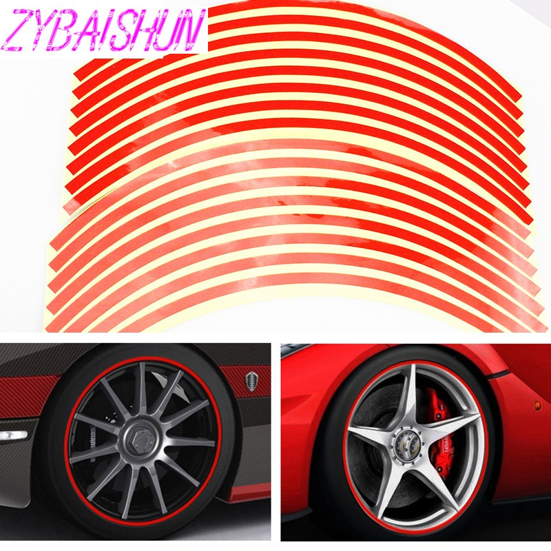 16 cinta de rayas reflectante 15-18 pulgadas llantas pegatinas para Dodge Journey JUVC/cargador/DURANGO/CBLIBER/SXT/DART