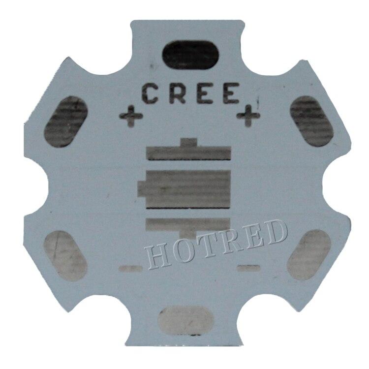 Freeshipping! 20 MM CREE XML Branco/XML2 T6 U2 LEVOU PCB/placa base de Alumínio/placa de Circuito/PCB LEVOU bordo 100 pçs/lote