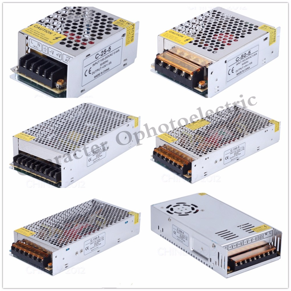 Fuente de alimentación 5 V 2A 3A 10A 20A 30A 40A 60A 70A 80A 110V 220V CA a 5 voltios CC controlador de fuente de alimentación LED para tira de luz LED