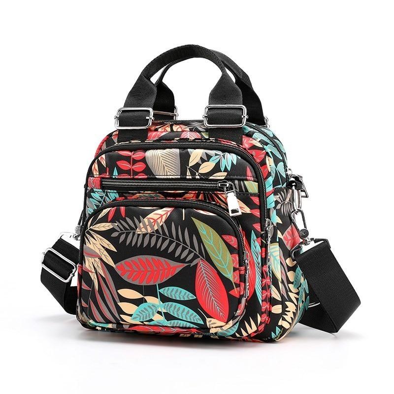 حقيبة كتف نسائية من النايلون المقاوم للماء ، حقيبة زهور متعددة الوظائف ، حقائب يد فاخرة للنساء
