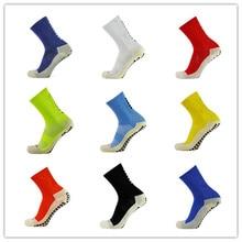 Nouvelles chaussettes de Football chaussettes de Football antidérapantes hommes chaussettes de sport bonne qualité coton Calcetines le même Type que les couleurs de fermes 9