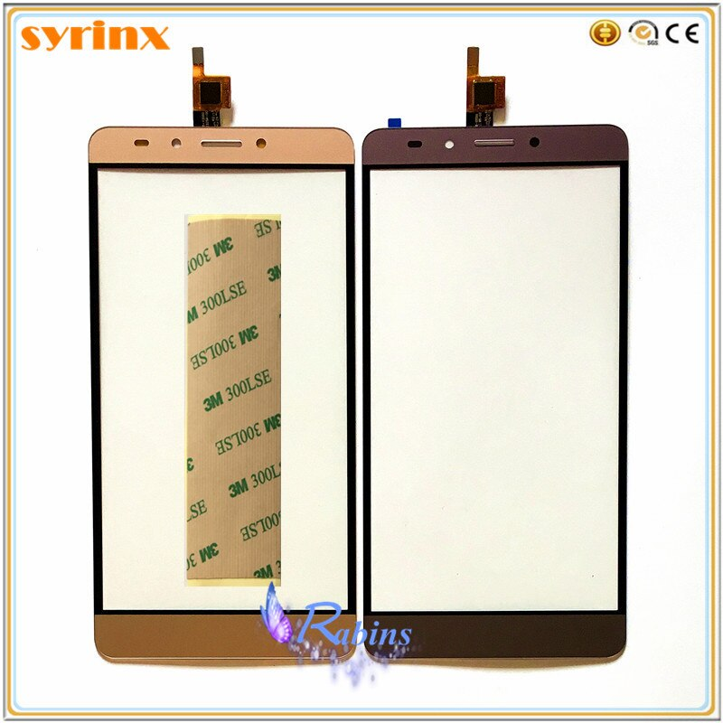Sensor de pantalla táctil de 5,0 pulgadas para INFINIX Note 3X601 pantalla táctil digitalizador Panel de cristal frontal 3 m cinta táctil