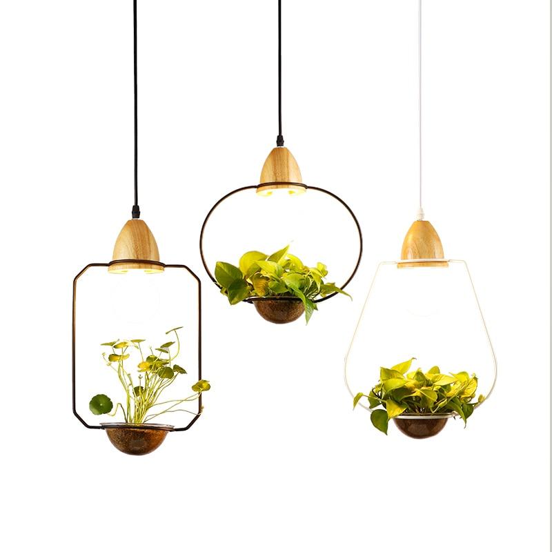 Nordic Living Dining Restaurant plant pot pendant light wrought iron  restaurant cafe bar garden deco  Growing Herbs .Succulents