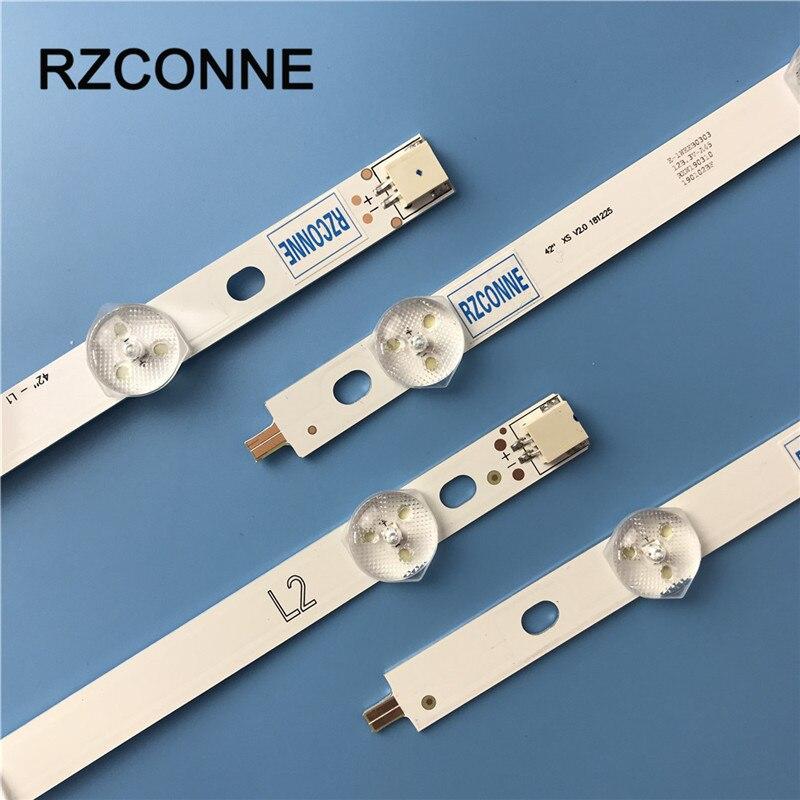 "Tira de LED para iluminación trasera para LG 42 ""ROW2.1 Rev 0,0 L1 L2 R1 R2 42LA620Z 42lA620V 6916L-1214A 6916L-1215A 6916L-1216A 6916L-1217A"