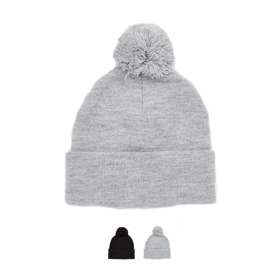 Женские и мужские повседневные вязаные теплые шапки, зимние шапки с рисунком в виде черепа и помпонами для волос, 2 вида цветов