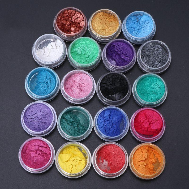 Pigmento de tinta colorante de resina para joyería, 19 colores, pigmento de Mica de perla, polvo superfino, resina, tinte artesanal