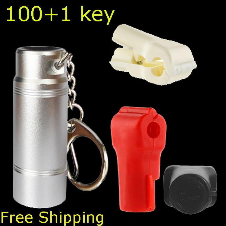 101pcs EAS Lock Pick Security Hook Magnetic Detacher Magnet Lock Key Stop Lock Detacher Remover EAS System for Stem Hook Hanging