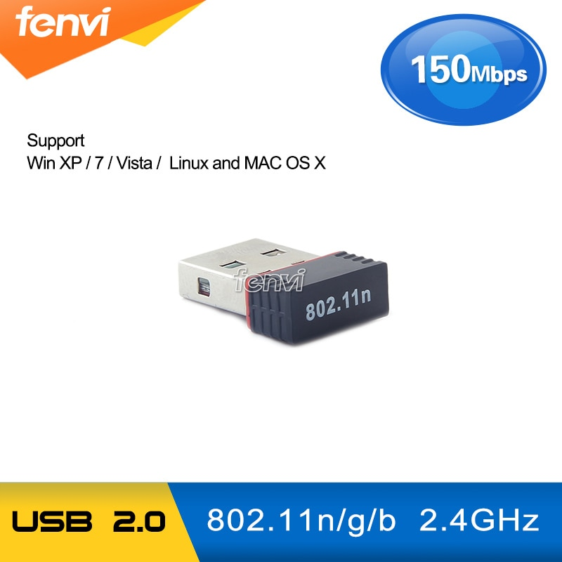 150Mbps USB WiFi Adapter Wireless 802.11 b/g/n USB 2.0 LAN Dongle Support Windows / Linux Desktop Laptop