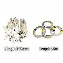 Feuilles de courroie de plaque de Nickel de bande dacier nickelée pour la machine 18650 de soudure par points de batterie de Li-ion soudeurs de batterie de soudeuse par points