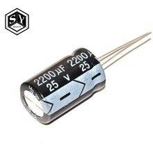 10 pièces En Aluminium électrolytique condensateur 2200 uF 25 V 10*17mm frekuensi tinggi Électrolytique Radial kapasitor