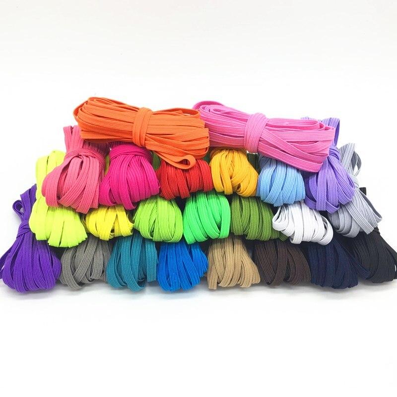 6 мм Красочные высокоэластичные эластичные ленты канатная Резиновая лента линия спандекс лента швейная кружевная отделка поясная лента аксессуары для одежды 5 м