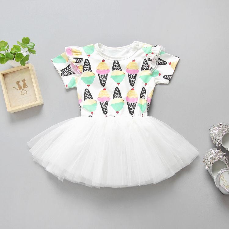 Da criança Do Bebê Kid Menina Lace Ruffle Wedding Party Tutu Vestido de Meninas Roupas Set Bebê Recém-nascido Meninas Encantador Macio Vestidos de Princesa