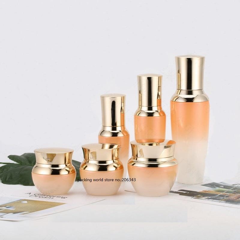 30G glass bottle/jar/pot with gold lid for cream/essence/serum/gel/moisturizer/mask/skin care /eye cream cosmetic packing