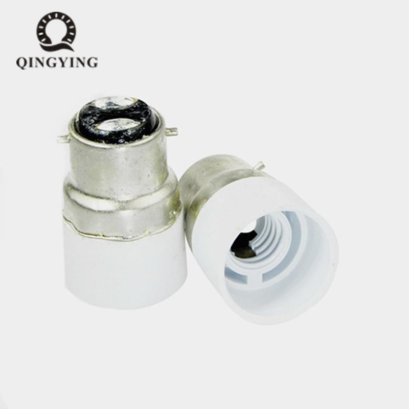10 teile/los B22-E14 Lampe Halter Konverter Bajonett Sockel B22 zu E14 Lampen Halter Adapter Glühbirne Stecker Extender Freies Verschiffen