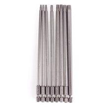 Heißer Verkauf 8 Pcs T8/T10/T15/T20/T25/T27/T30/T40 150mm Länge Lange Magnetische Torx Sicherheit Elektro-schrauber Drill Bits Set #232275