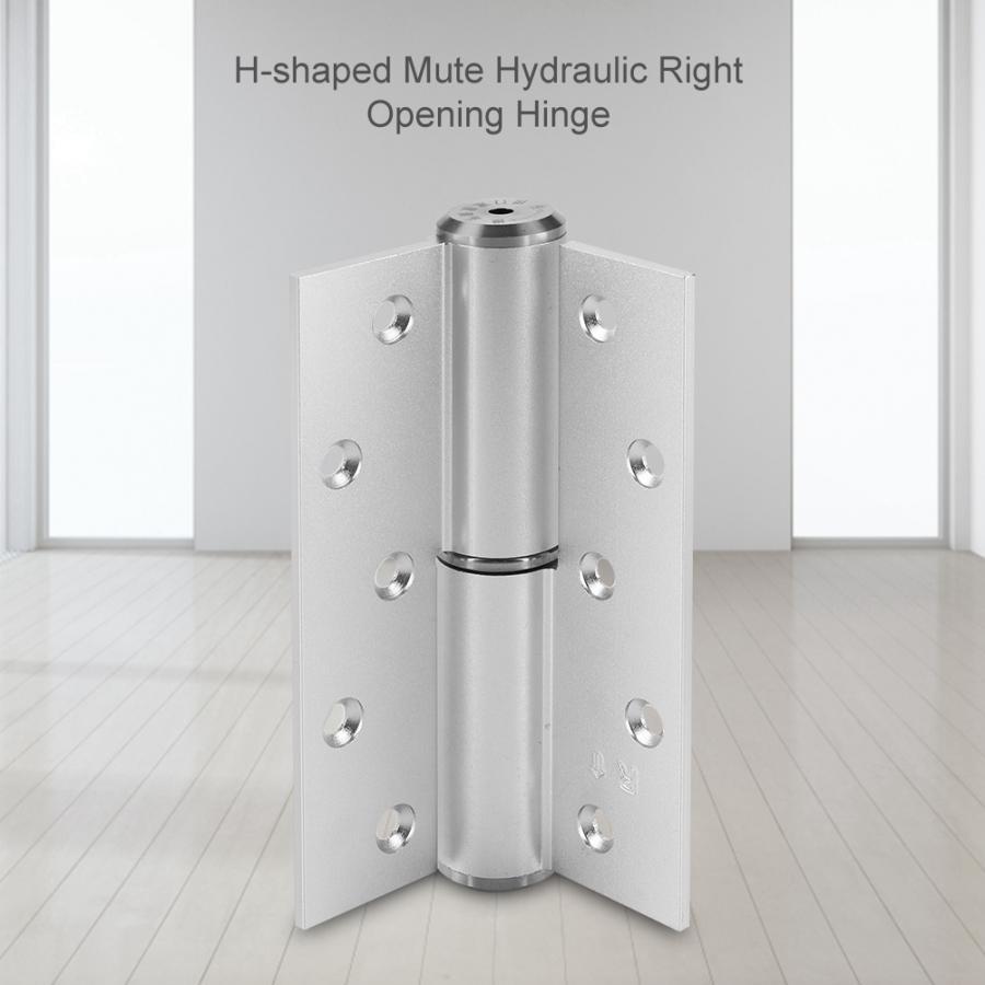 5 pulgadas en forma de H silenciador hidráulico bisagra puerta más cerca arena plata Automatic bisagra de cierre abierto automático caliente venta