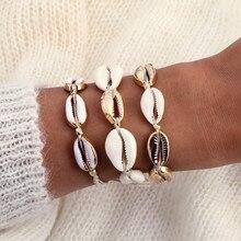 2019 Hot Fashion Cowrie Shell Bracelets for Women Delicate Handmade Rope Chain Bracelet Beads Charm Bracelet Boho Beach Jewelry