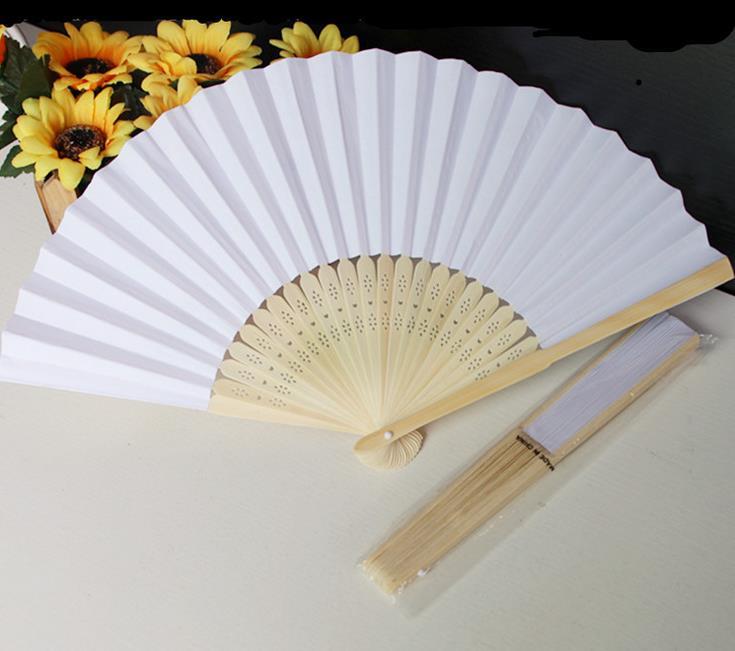 100 unids/lote 21 cm papel de color blanco para boda a mano decoración para fiesta de boda promoción Favor lin2924