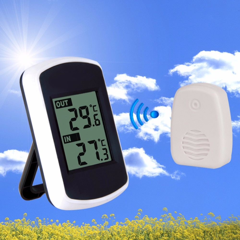 433MHz LCD Digital Wireless Ambient Weather Station Wireless Transmission Range 120 feet Indoor Outd