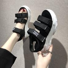 TUINANLE gladiateur plate-forme femmes sandales 2020 été mode femmes grosse plage sandale Denim confortable Sandalias Mujer