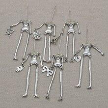 Pièces de poupée à larrivée!! Mode poupée collier charmes accessoires poupée pendentif corps avec bras et pieds habiller par vous-même