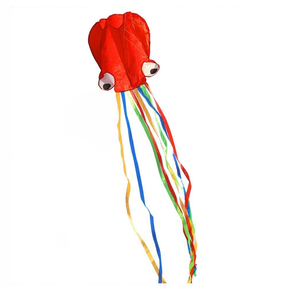 4M Large Cartoon Octopus Kite Single Line Stunt /Software Power Children Outdoor Kite with 30m Kite String