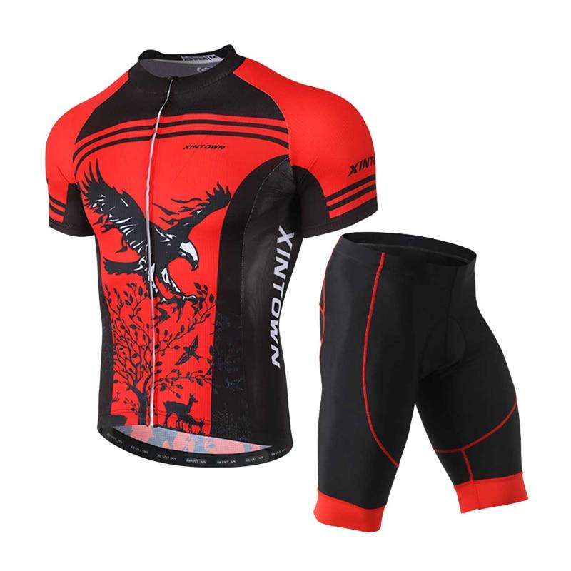 Verano ciclismo bicicleta de montaña equipo de manga corta pantalones cortos de silicona cojín humedad respiración transpiración