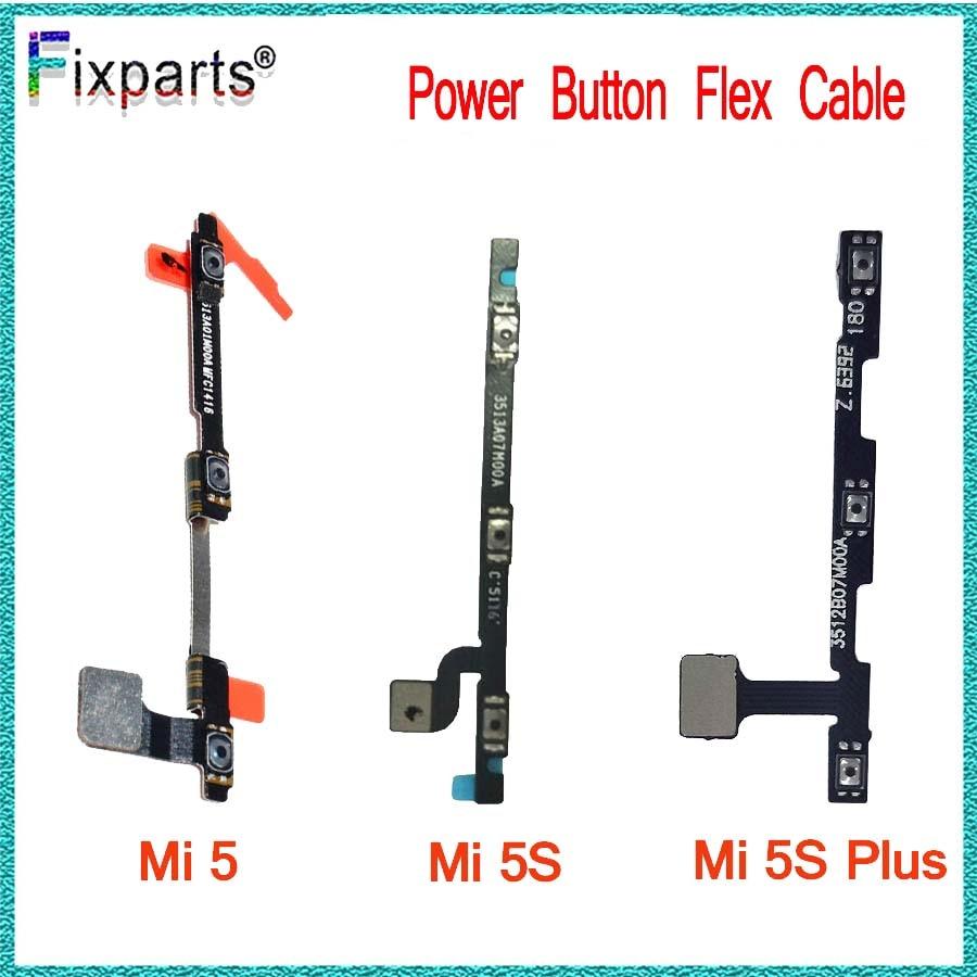 Para Xiaomi mi 5 botón/de volumen Cable Flex con botones cinta para Xiaomi mi 5 mi 5S mi 5S más volumen Cable Flex