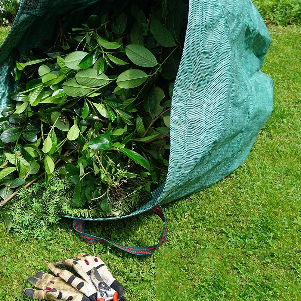 1 Uds. Juego de bolsas de jardín, bolsas de hojas, bolsa de desperdicio de jardín, bolsas de residuos para parques de paisajes, 120L de jardín